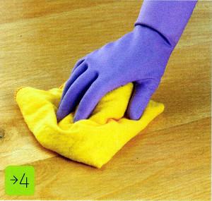 Как удалить царапину с деревянного пола. Фото 4