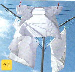 Сушим белье на солнце.
