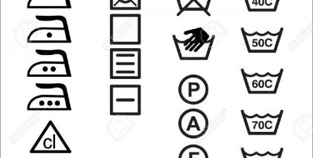 Значки на ярлыках одежды